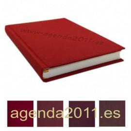 Fabricación Agenda personalizada poliel colores Rojo / Granates